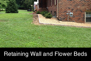 Retaining Wall and Flower Beds