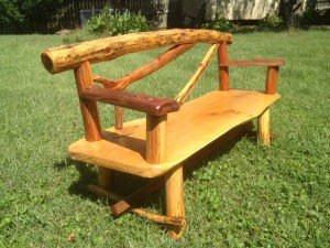 Oak and Cedar Garden bench