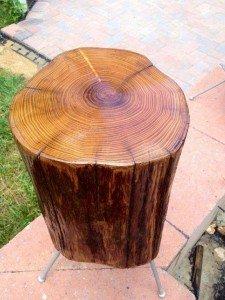 Round log table
